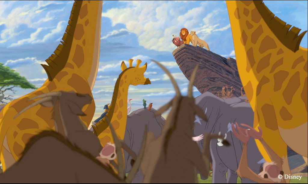 Lion king pride rock scene - photo#13