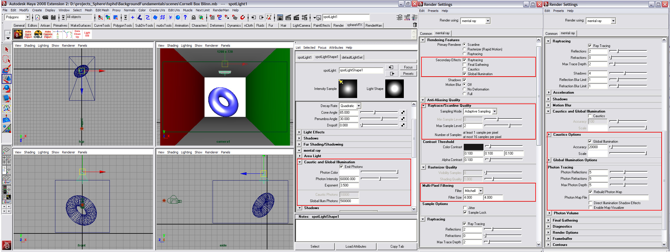 The Art Of Rendering Updated Fxguide Angled Wire Tee Symbol In Autocad Electrical Serves Two Cornell Box Render Maya