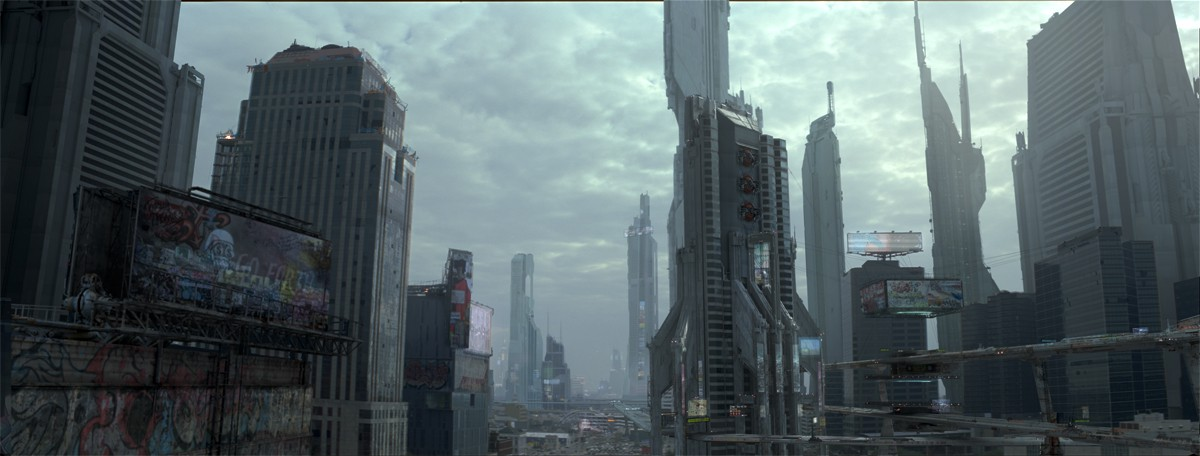 Matte painting space futuristic for Space matte painting