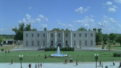 Original plate - the extent of the White House built in Louisiana.