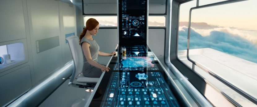 Andrea Riseborough as Victoria in Oblivion.