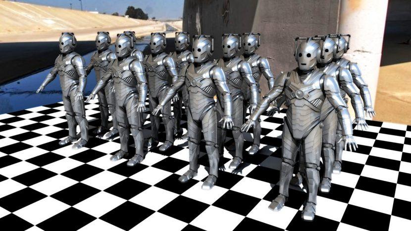 Cybermen test still.