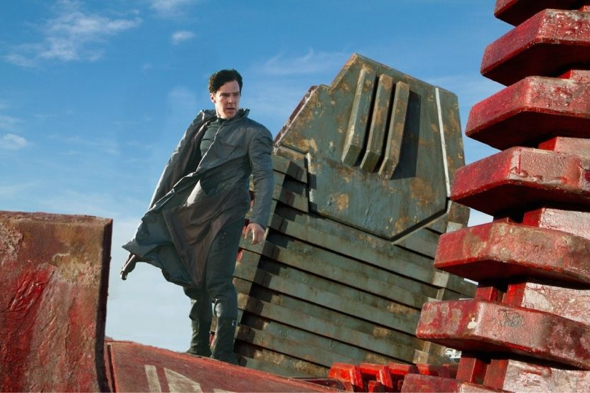 Actor Benedict Cumberbatch on the garbage barge.