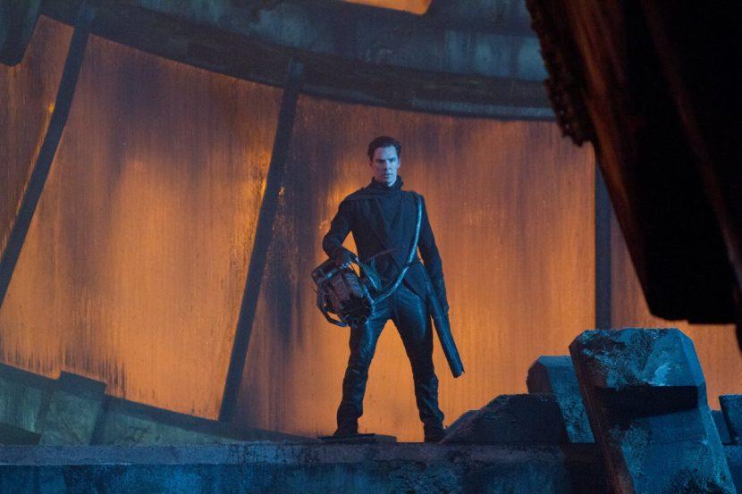 Actor Benedict Cumberbatch on the Kronos set.