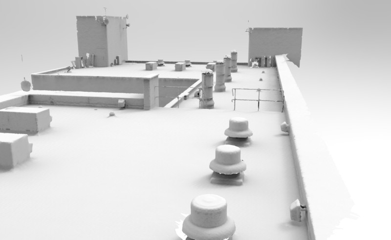 Apartment rooftop mesh. Image courtesy 2h3D.