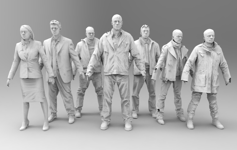 Costume meshes. Image courtesy 2h3D.