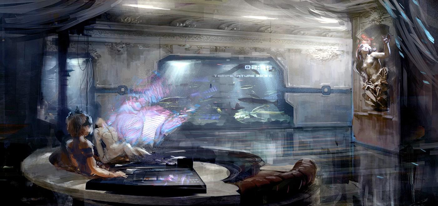 Hi_007m Interior_cosy_loft_statue_01