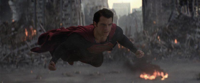 Superman takes on Zod at Metropolis.
