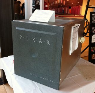 A  Pixar Image Computer. (One sits now that the front of Pixar's internal RenderFarm)