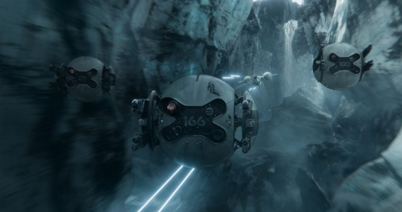 A scene from Oblivion. VFX by Pixomondo.