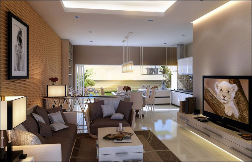 Living room interior rendered in finalRender by Doni Sudarmawan.