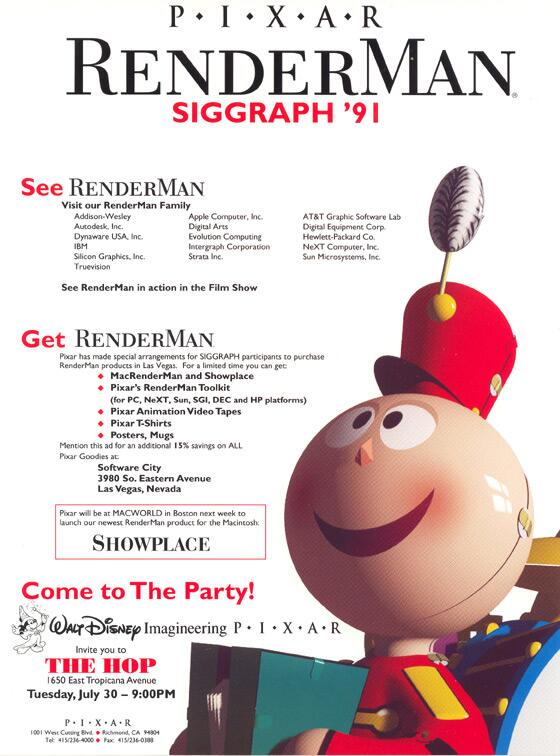 Pixar  at SIGGRAPH 1991: image via 3dstreaming.com