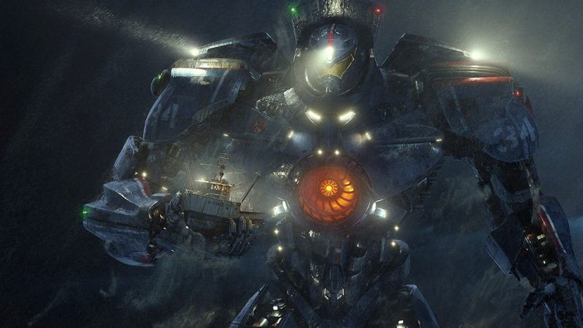 Gipsy Danger rescues a fishing boat early in the film.