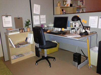 Miniature cubicle.