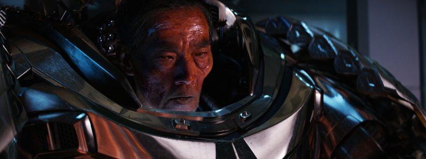 Yashida is revealed to be inside the Samurai suit.