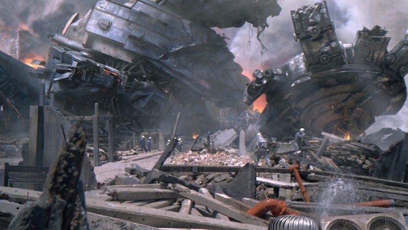 Final shot of a battle aftermath.
