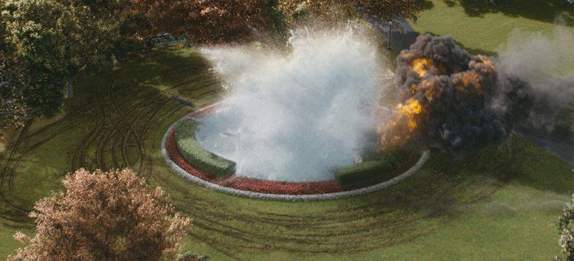 The fountain crash.