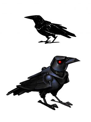 Crow sketches.