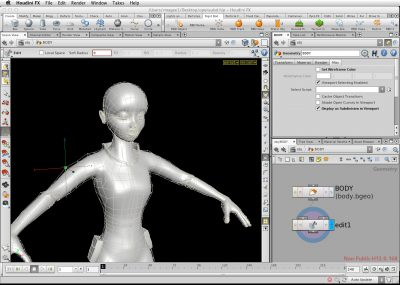 An early look at the new Open Subdiv in a prototype form in Houdini