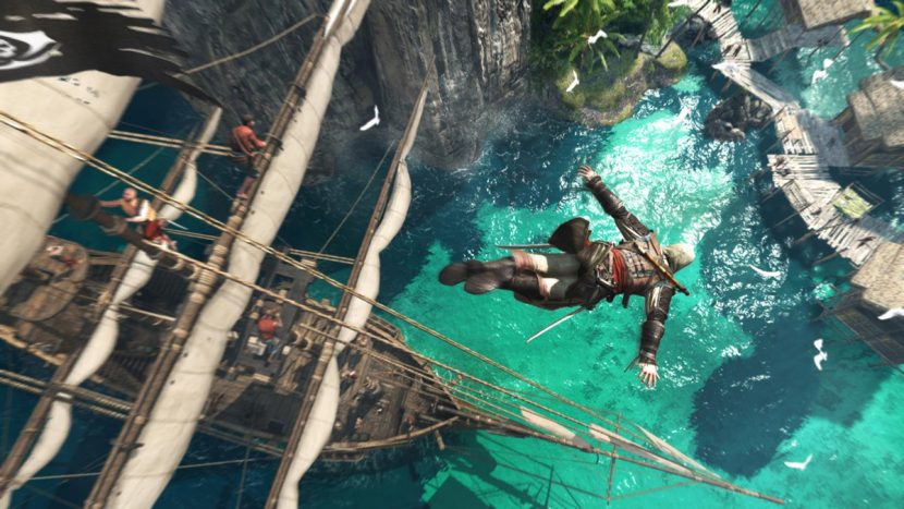 Players can now dive from ship to ocean and continue playing in the world of the game.