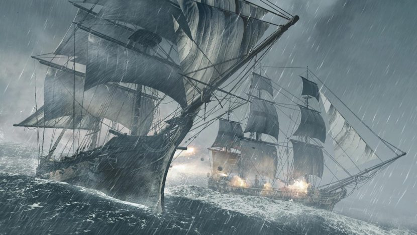 A stormy scene from Black Flag.