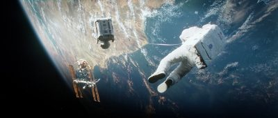 A still from Gravity.