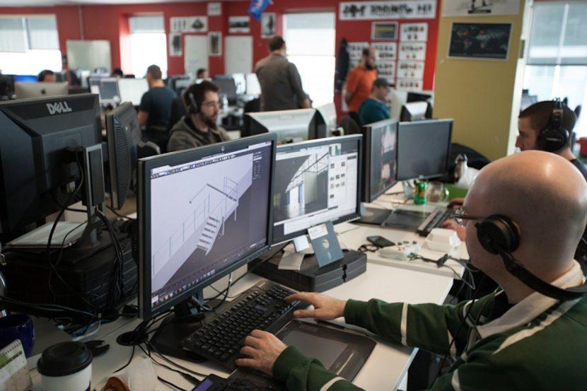 Ubisoft artists at work on Black Flag.