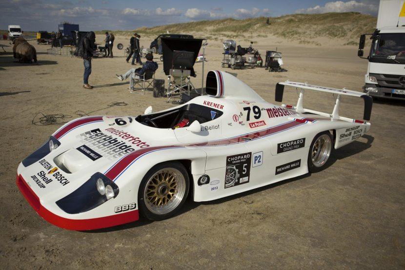 The Porsche on set.