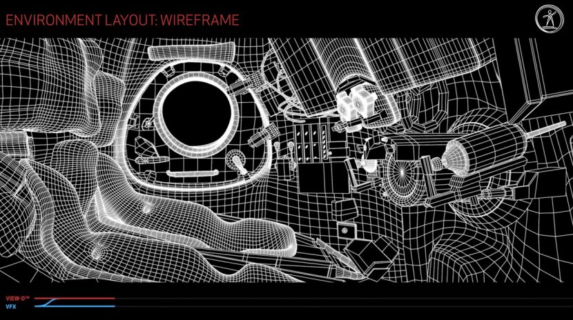 Environment layout: wireframe.