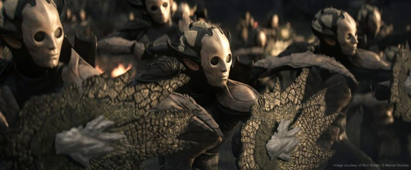The scene was mostly made of fully-digital characters and environments.