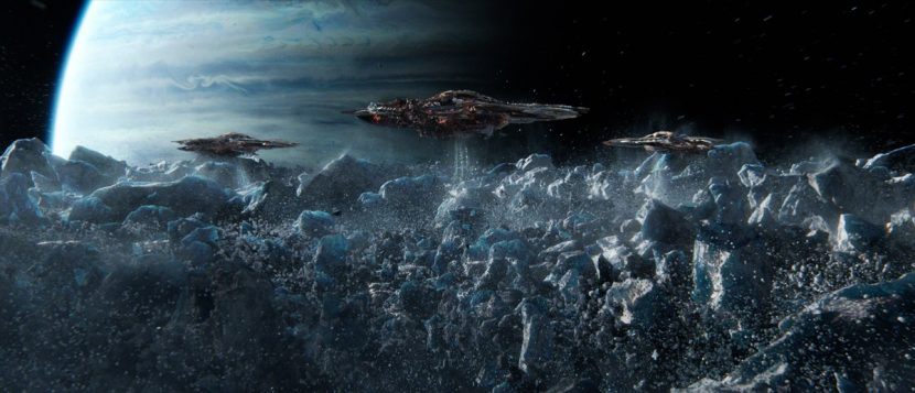 DD also crafted large-scale Formic battles and destruction effects for Ender's Game.