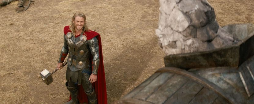 Thor tells Stone man he accepts his surrender.