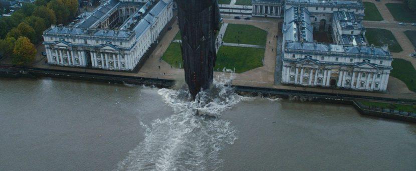 An enormous Ark ship attacks Greenwich.