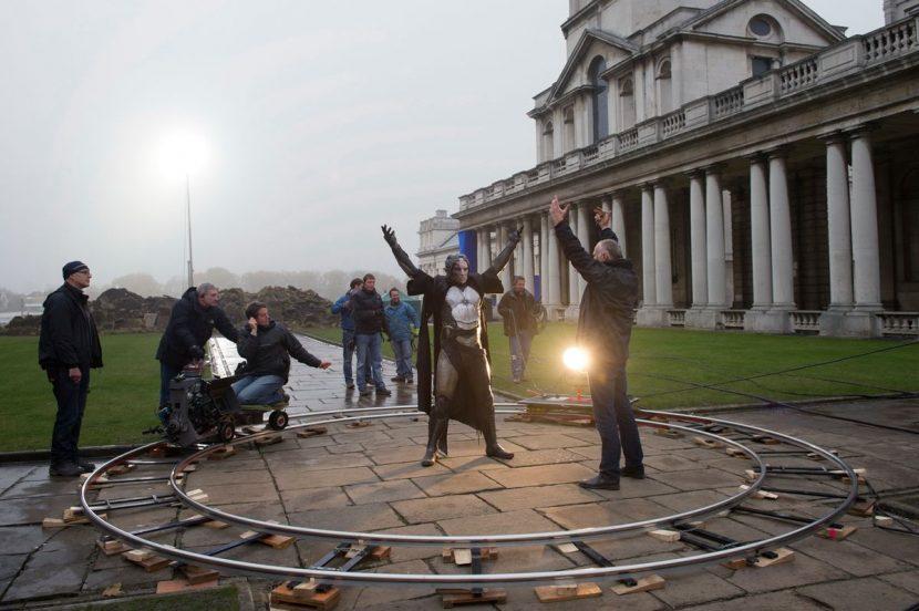 Filming the Greenwich battle.