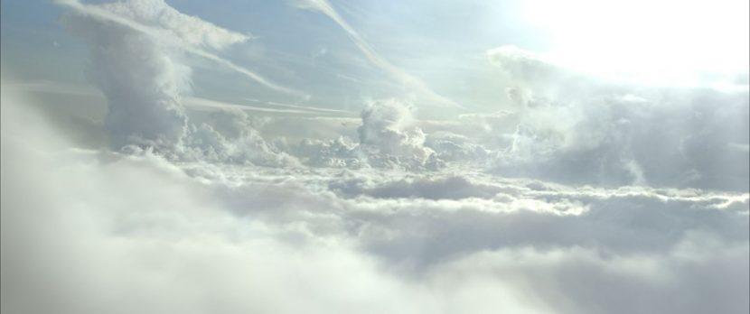 The film begin in the clouds.