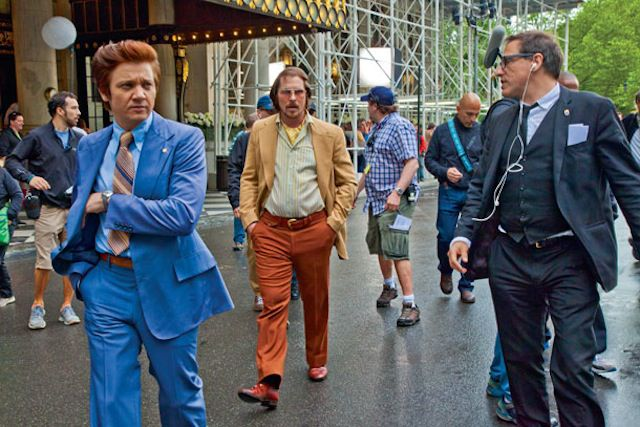 On the set of American Hustle.
