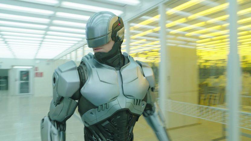 RoboCop's trademark silver suit.