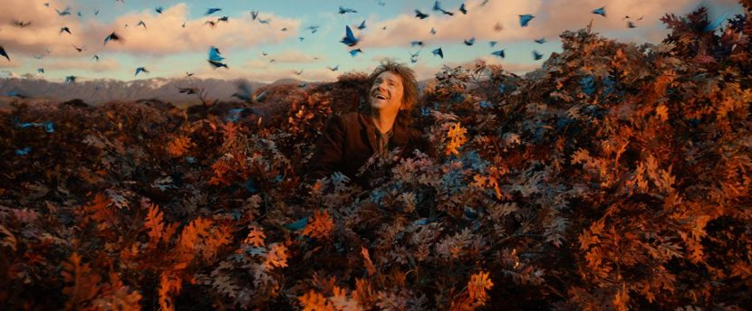 A scene from The Desolation of Smaug.