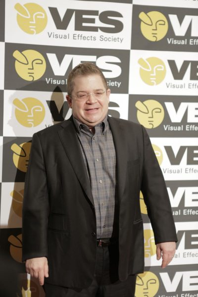 VES Awards host Patton Oswalt on the red carpet. Photo by Jeff Heusser.