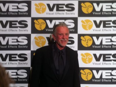 John Dykstra arrives at the VES Awards. He is to receive the Lifetime Achievement Award.