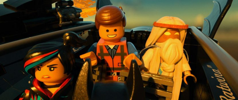 Wyldstyle, Emmet and Vitruvius star in The LEGO Movie.