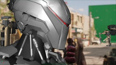 CG robot.
