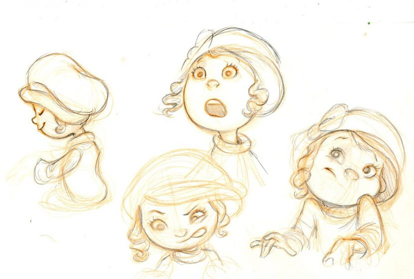 The Kid sketches.