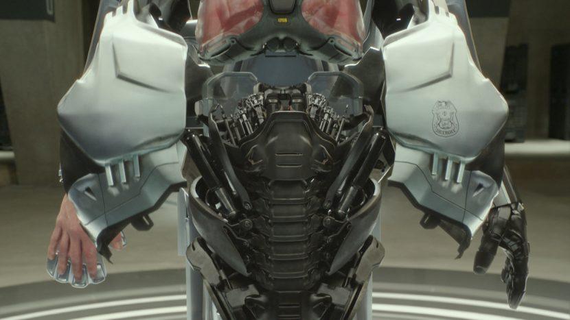 RoboCop mid-regeneration.