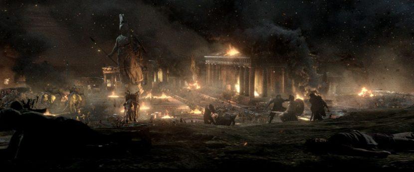 Athens burns.