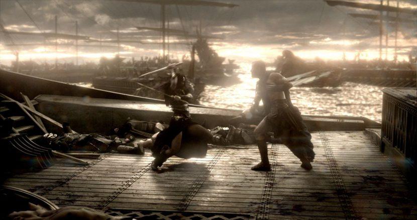 A shot from the final battle.