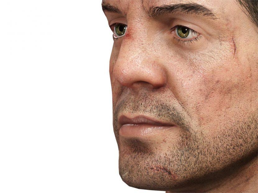 Detail on Marius' face.