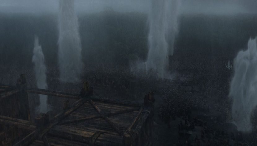 A scene from the battle sequence.