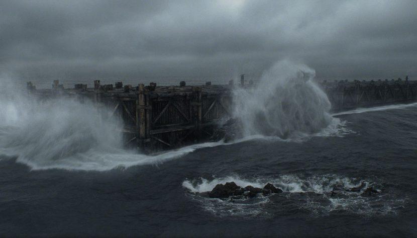 The ark at sea.