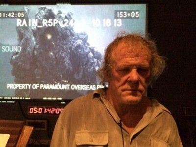 Director Darren Aronofsky tweeted this image of Nick Nolte recording the voice of Samyaza, leader of the Watchers.